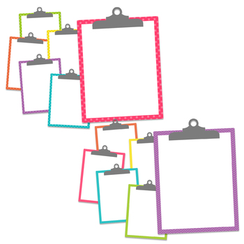 Basic Brights Clipboards Clipart