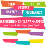 Basic Brights Crazy Shapes Trapezoids Set
