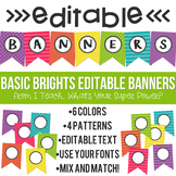 Editable Banners Basic Brights