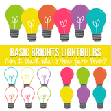 Basic Brights Lightbulbs Clipart