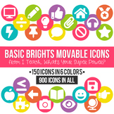 Basic Brights MOVABLE Icons Clipart