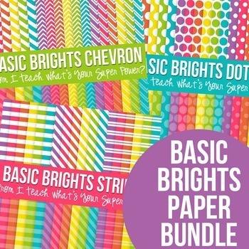 Digital Paper Basic Brights Bundle