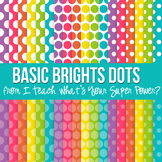 Basic Brights Polka Dot Paper Pack