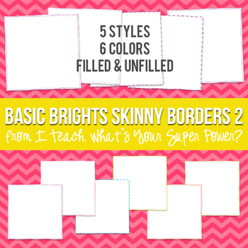 Basic Brights Square Skinny Borders