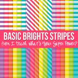 Basic Brights Stripes Paper Pack
