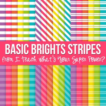 Basic Brights Stripes Paper Pack