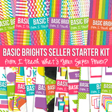 Digital Papers Frames and More: Basic Brights Ultimate Bundle Set