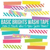 Basic Brights Washi Tape Clipart Set
