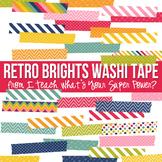 Retro Brights Washi Tape Clipart Set