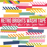 Retro Brights Washi Tape Clipart Set