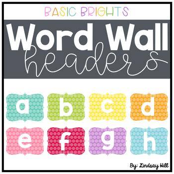 Basic Brights Word Wall Headers