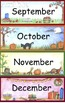 Basic Calendar Math Bulletin Board Set