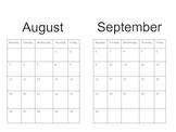 Basic Calendar Reading Log