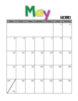 Basic Calendars {June 2014-June 2015}