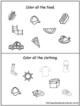 Basic Categories & Concepts Activity Pack: Exclusion, Sorting, Vocabulary Tasks