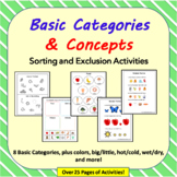 What doesn't belong? Exclusion, Categories, Basic Concepts