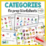Categories Speech Therapy Activities | No Prep Worksheets