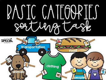 Basic Category Sorting Clothespin Tasks