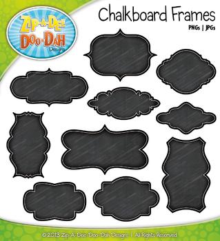 Basic Chalkboard Clip Art Frames — Includes 10 Graphics!