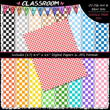 Basic Checkers 2 - 17 CU 8.5x11 Digital Papers