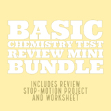 Basic Chemistry Test Review Mini Bundle: Project + Worksheet