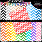 Basic Chevron 2 - 17 CU 8.5x11 Digital Papers