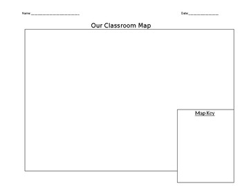 Basic Classroom Map and Key Template