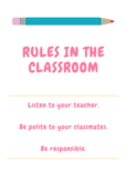 Basic Classroom Rules Poster