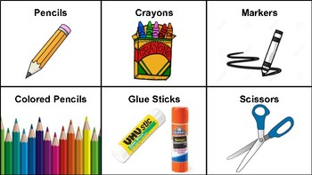 Basic Classroom Supply Labels