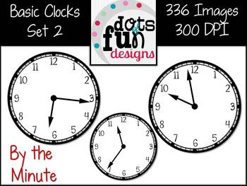 Basic Clocks By the Minute Set 2