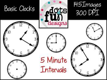 Basic Clocks in 5 Minute Intervals