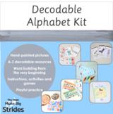 Decodable Alphabet Kit - Hand painted