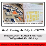 Basic Coding Activity in Excel (LEGO Programming Extension)