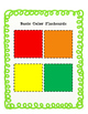 Basic Color Flashcards, Assessment and Data Sheet