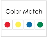 Basic Color Matching File Folder Game