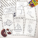 Basic Color Me Alphabet Cards