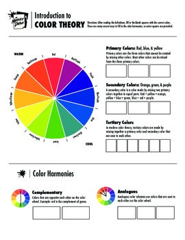 Basic Color Theory Worksheet