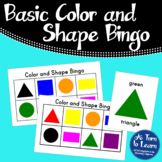 Basic Color and Shape Bingo