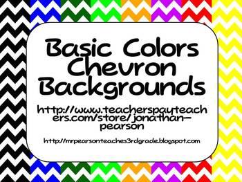 Basic Colors Chevron Backgrounds - 9 Different Colors