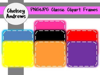 Basic Colors Clipart Frames {Personal and Commercial Use}
