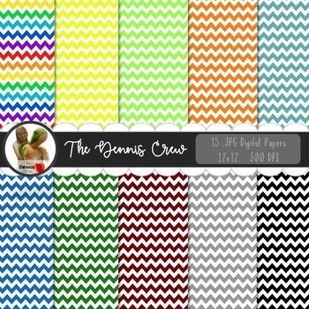 Basic Colors Digital Papers BUNDLE