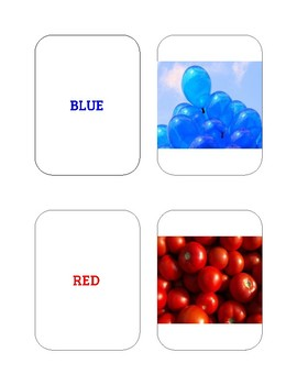 Basic Colors Flashcards
