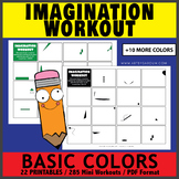 Basic Colors Imagination Workout Printables