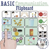 """Basic Communication """"Flip Board"""" Request Snacks, Toys, Actions Low Tech AAC"""
