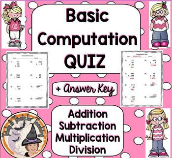 Computation Assessment Add, Subtract, Multiply, Divide