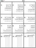 Basic Computation Skills Sheet