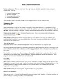 Basic Computer Maintenance Reading