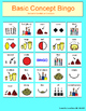 Basic Concept BINGO - Ordinal & Quantitative Concepts