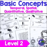 Basic Concepts Speech Therapy Prepositions Quality Volume Distance Quantity