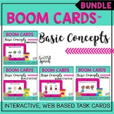 Basic Concepts BUNDLE Boom Cards™ {Speech Therapy Distance Learning}